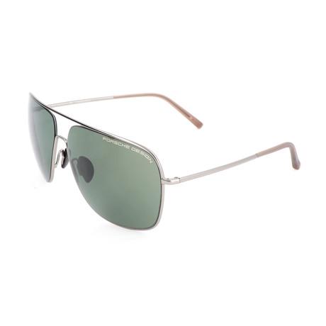 Men's P8607 Sunglasses // Gray + Green