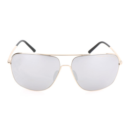 Men's P8607 Sunglasses // Light Gold + Mercury + Silver Mirror