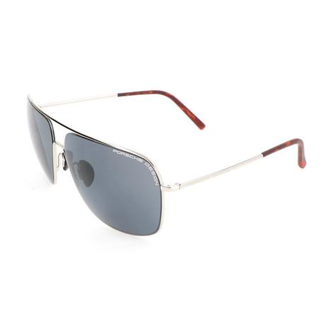 Men's P8607 Sunglasses // Palladium + Gray Blue