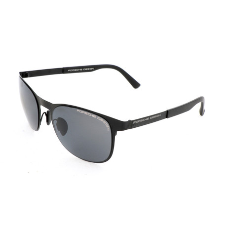 Unisex P8578 Sunglasses // Black + Gray