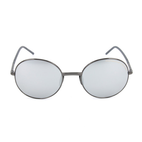Unisex P8631 Sunglasses // Gunmetal + Gray Mercury + Silver Mirror