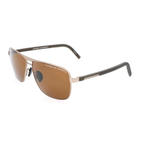 Men's P8639 Polarized Sunglasses // Brown