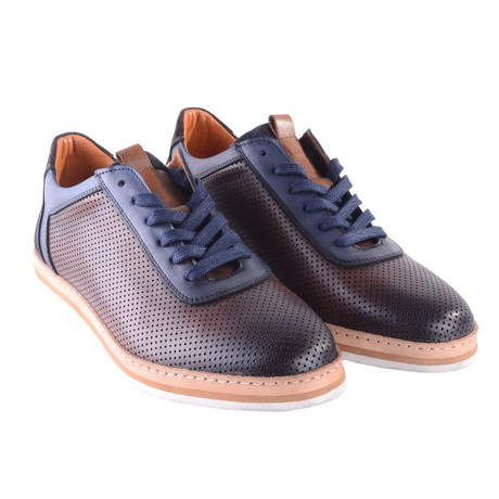 Perforated Leather Fashion Casual Shoe // Brown (US: 7)