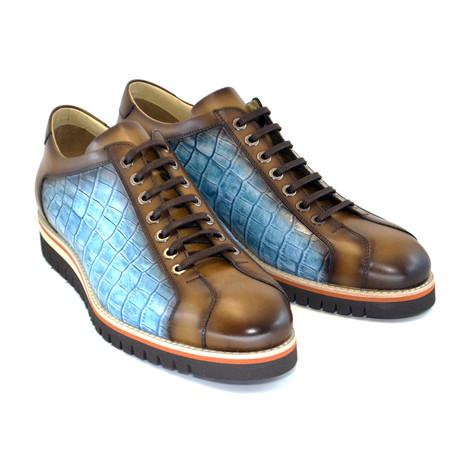 Fashion Sneaker // Camel + Blue (US: 7)