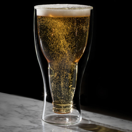 Upside Down Beer Glass (1 Glass)