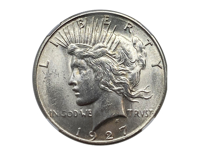 photo of 1927-S Peace Dollar NGC Certified MS62 by Touch Of Modern