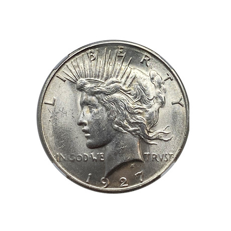 1927-S Peace Dollar NGC Certified MS62