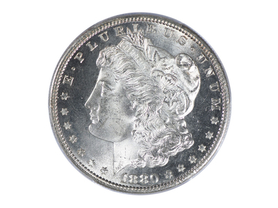photo of 1880-S Morgan Dollar PCGS & CAC Certified MS67+ by Touch Of Modern
