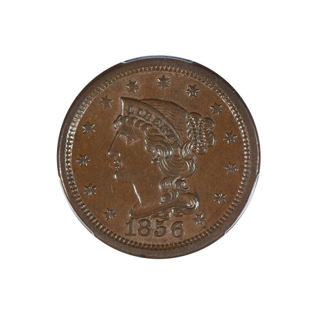 1856 Braided Hair Large Cent PCGS Certified MS62BN