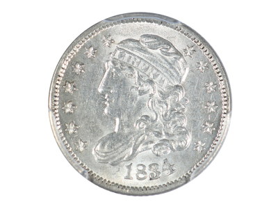 photo of 1834 Capped Bust Half Dime PCGS Certified AU58 by Touch Of Modern