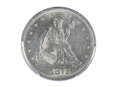 photo of 1875 Seated Liberty Twenty Cent Piece PCGS Certified AU58 by Touch Of Modern