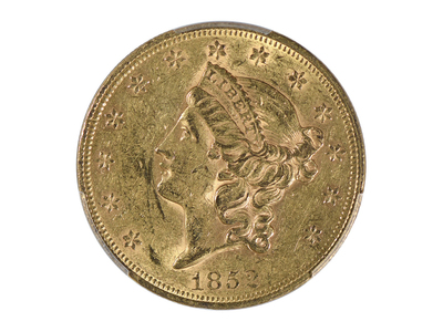 photo of 1852 Liberty Head $20 Gold Piece, Type 1, PCGS & CAC Certified AU55 by Touch Of Modern