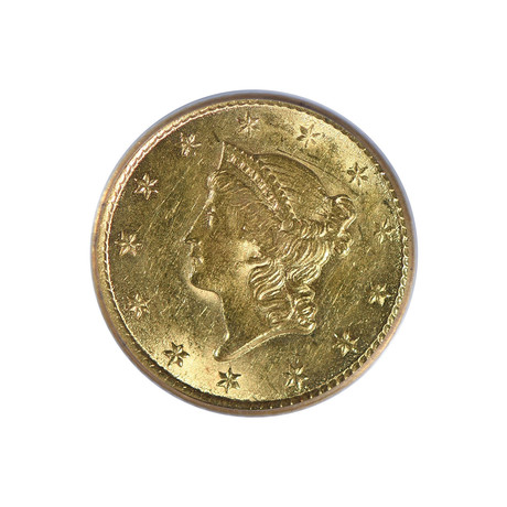 1851-O Liberty Head $1 Gold Piece PCGS & CAC Certified AU58