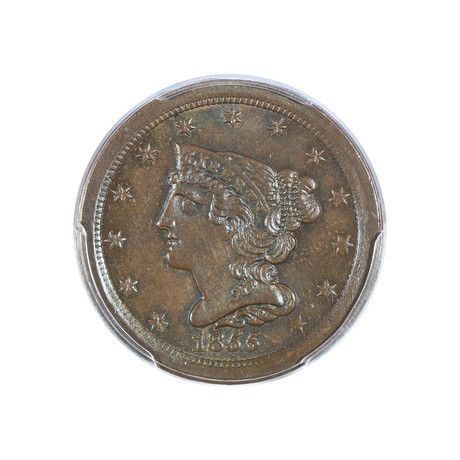 1855 Braided Hair Half Cent PCGS Certified MS64BN