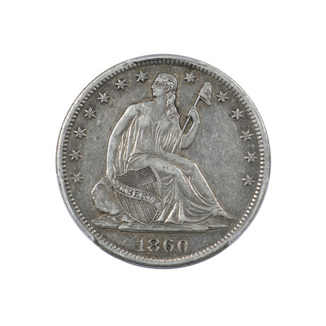 1860-S Seated Liberty Half Dollar PCGS Certified XF45