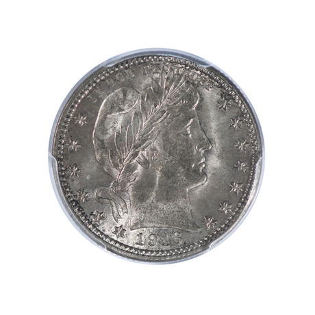 1916-D Barber Quarter PCGS Certified MS64