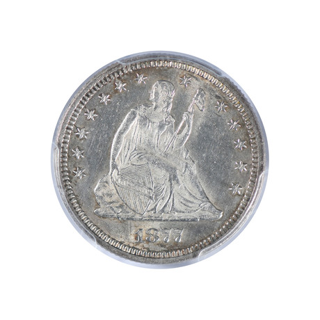 1877 Seated Liberty Quarter PCGS Certified MS62