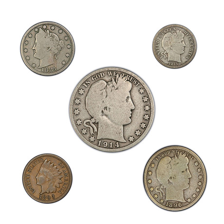 Late 19th to Early 20th Century American Coin Type Set