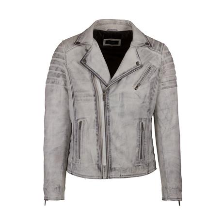 Canyon Leather Jacket // White (S)
