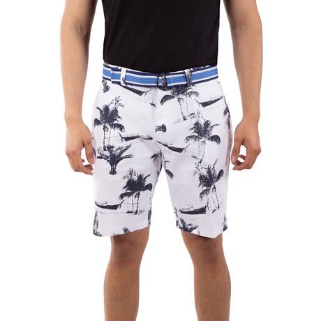 Palm Beach Shorts // White (40)
