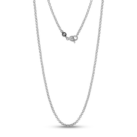 "Sterling Silver 3mm Rolo Link Chain Necklace (20"")"