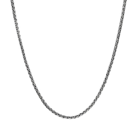 "Contemporary Chain Necklace // 4mm // Silver (24"")"
