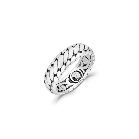 Contemporary Domed Band Ring // Silver (Size 8)