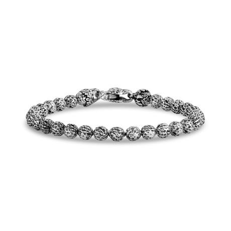 "Lava Bead Bracelet // Silver (X-Small // 7"")"