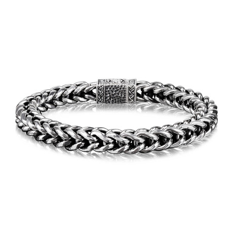 "Franco Bracelet // 7mm // Silver (Medium // 8"")"