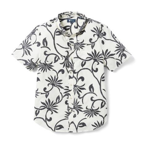 Polynesian Pareau Tailored Shirt // White + Black (XS)