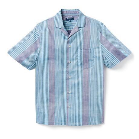 Pacific Paradise Stripe Shirt // Aqua (XS)