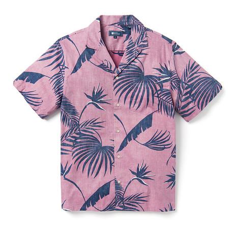 South Pacific Palms Shirt // Mauve (XS)
