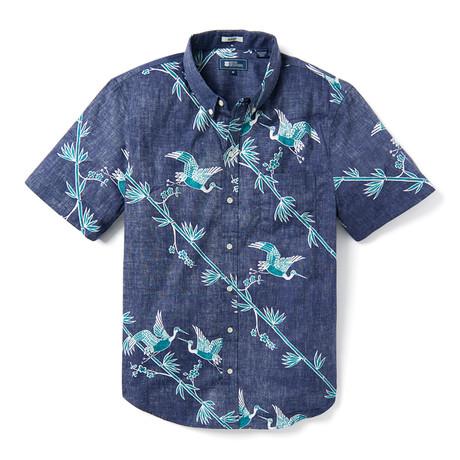 Crane's Flight Tailored Button Down Shirt // Maritime Blue (XS)