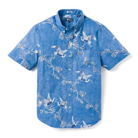 Crane's Flight Tailored Button Down Shirt // Light Blue (XS)