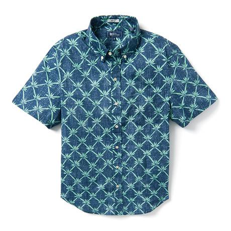 Rattan Vines Tailored Shirt // Blue (XS)