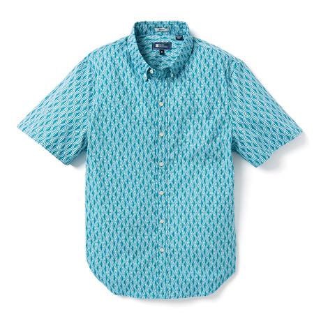 Tapa Waves Tailored Shirt // Teal (XS)