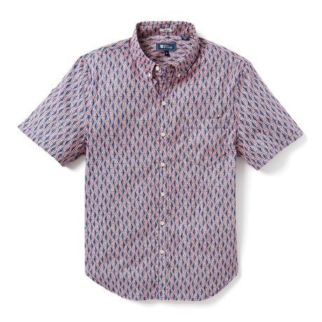 Tapa Waves Tailored Shirt // Blue (XS)