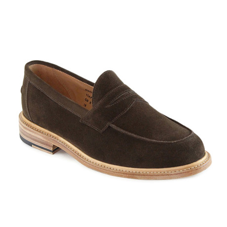 Issac Suede Penny Loafer // Chocolate (US: 7)