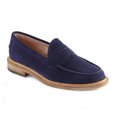 Issac Suede Penny Loafer // Navy (US: 7)