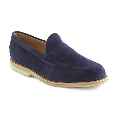 Louis Suede Penny Loafer // Navy (US: 7)