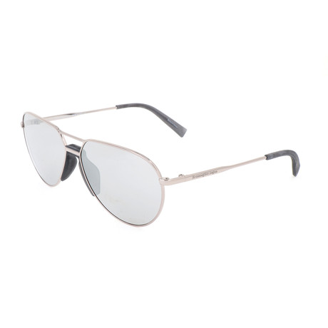 Men's EZ0096 Polarized Sunglasses // Shiny Light Ruthenium + Smoke
