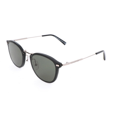 Men's EZ0097-D Sunglasses // Shiny Dark Ruthenium + Green