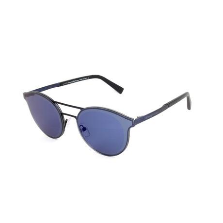 Men's EZ0085 Sunglasses // Matte Blue + Blue Mirror