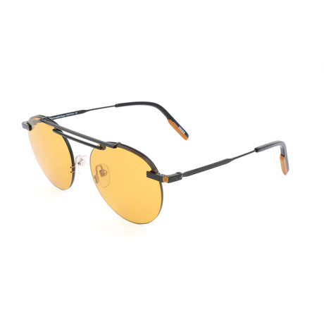 Men's EZ0116 Sunglasses // Matte Black + Brown