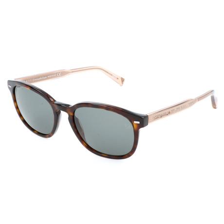 Men's EZ0005 Sunglasses // Dark Havana + Green