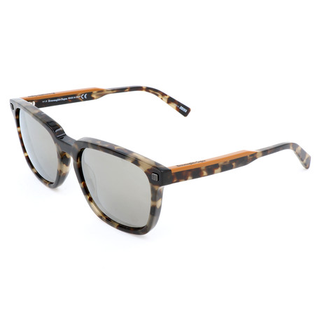 Men's EZ0119 Sunglasses // Colored Havana + Smoke Mirror