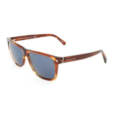 Men's EZ0074 Sunglasses // Colored Havana + Blue