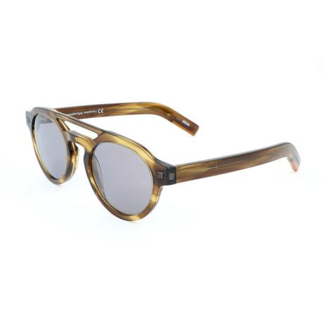 Men's EZ0112 Sunglasses // Shiny Dark Green + Smoke Mirror