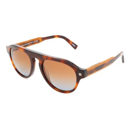 Men's EZ0099 Sunglasses // Dark Havana + Gradient Brown