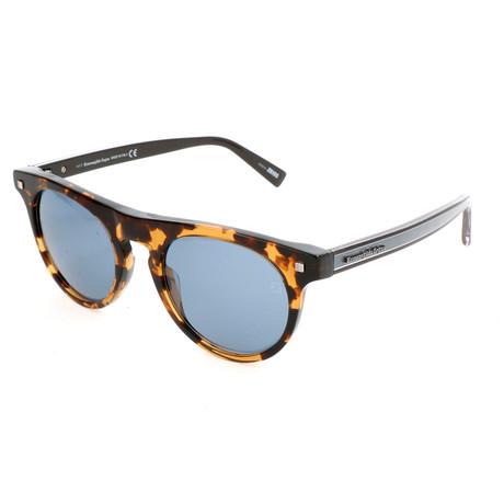 Men's EZ0095 Sunglasses // Colored Havana + Blue